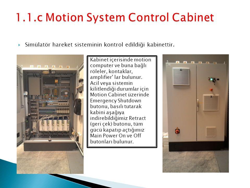 Simülatör hareket sisteminin kontrol edildiği kabinettir.