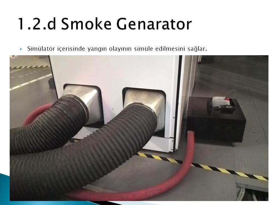 Simülatör içerisinde yangın olayının simüle edilmesini sağlar.