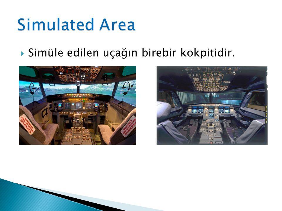 Simüle edilen uçağın birebir kokpitidir.