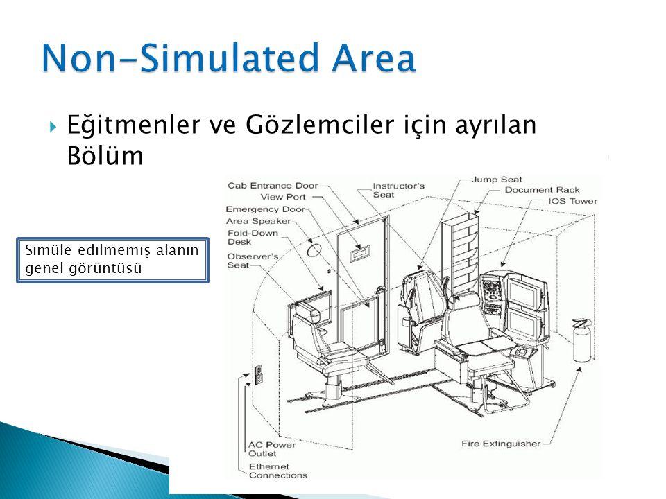 Eğitmenler ve Gözlemciler için ayrılan Bölüm Simüle edilmemiş alanın genel görüntüsü
