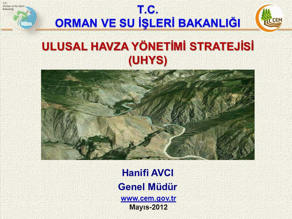 ULUSAL HAVZA YÖNETİMİ STRATEJİSİ (UHYS) Hanifi AVCI Genel Müdür www.cem.gov.tr Mayıs-2012