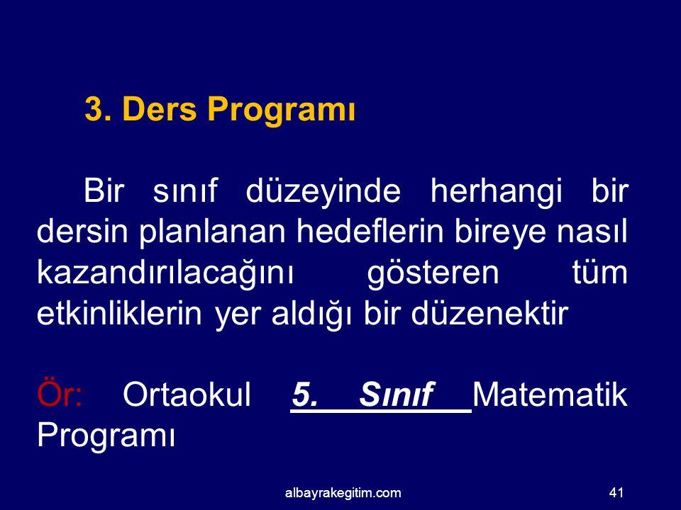 Eğitim ve Öğretim programı arasındaki temel fark Eğitim programı Ne ? sorusuna yanıt arar.