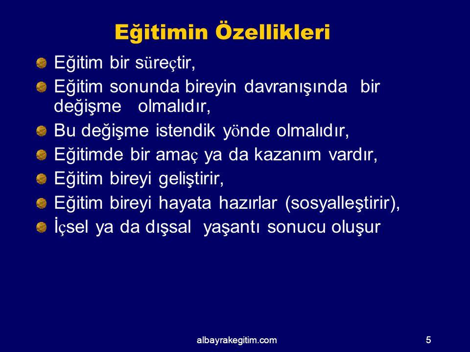 albayrakegitim.com KURAM ( TEORİ) MODEL STRATEJİ YÖNTEM TEKNİK 55