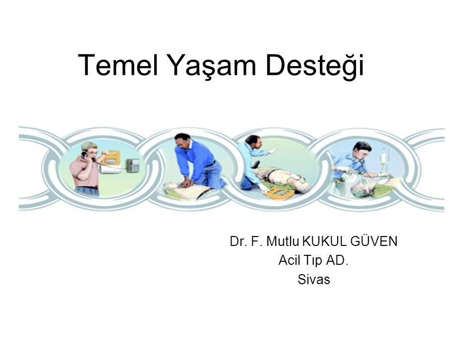 Temel Yaşam Desteği Dr. F. Mutlu KUKUL GÜVEN Acil Tıp AD. Sivas