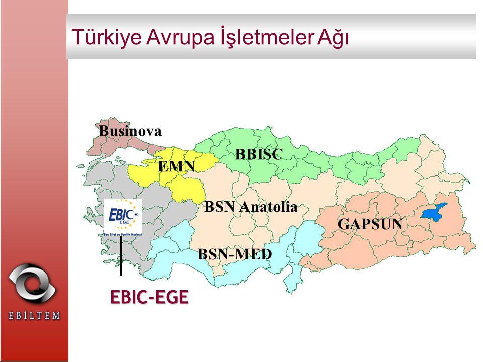 EBIC-EGE Izmir, Çanakkale, Balıkesir, Manisa, Aydın, Denizli, Muğla, Uşak, Afyon, Kütahya BSN Anatolia Businova BBISC GAPSUN BSN-MED EMN Türkiye Avrupa İşletmeler Ağı