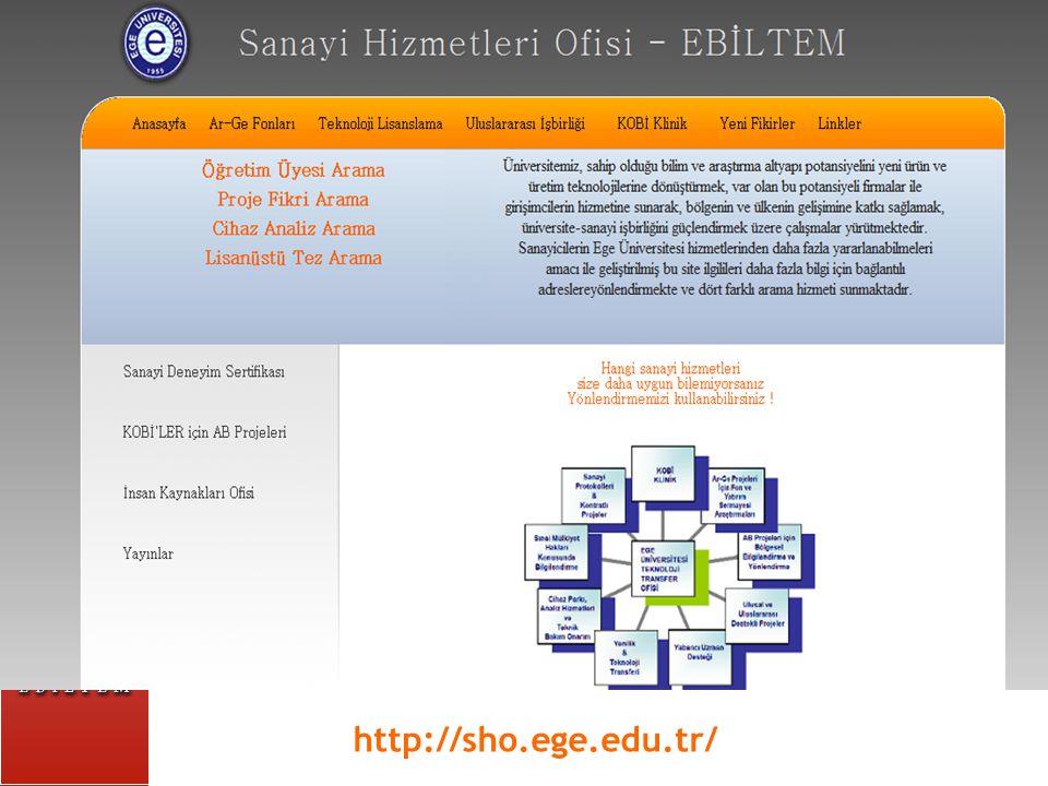 4 PUM Patent Araştırmaları Ofisi EBIC Ege AB Koordinas yon Ofisi TPE Bilgi ve Doküman Birimi İNOVİZ Proje Destek Ofisi Sanayi Hizmetleri Batı- Binom