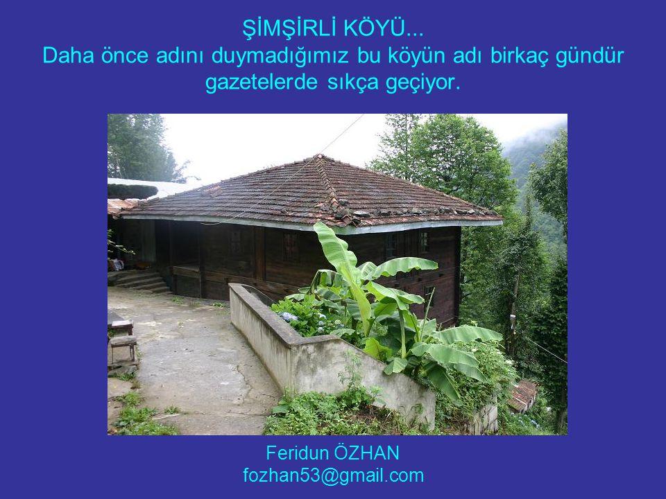 Tipik bir Doğu Karadeniz köyü.Sarp bir yamaca kurulmuş.