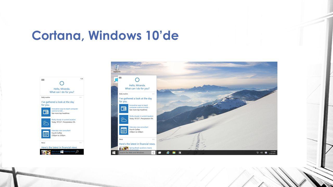 Modern app lerin masaüstünde bir pencere içinde çalışması Start menü [bigger, better, stronger] Artık gerçekten windows 7 gibi hissettiriyor.