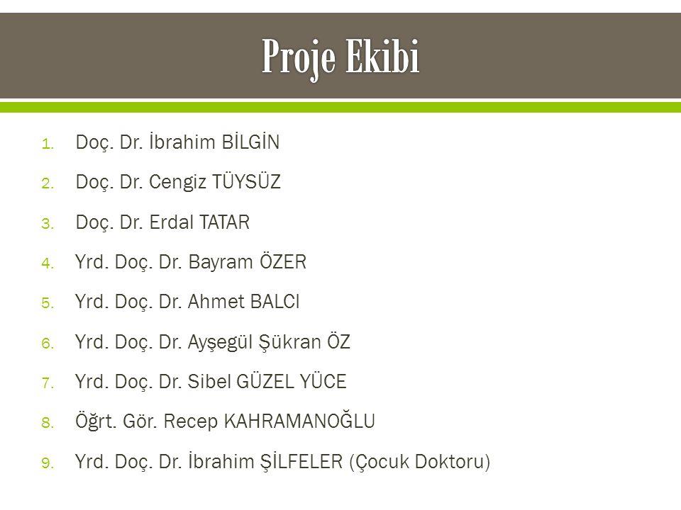 1. Doç. Dr. İbrahim BİLGİN 2. Doç. Dr. Cengiz TÜYSÜZ 3. Doç. Dr. Erdal TATAR 4. Yrd. Doç. Dr. Bayram ÖZER 5. Yrd. Doç. Dr. Ahmet BALCI 6. Yrd. Doç. Dr