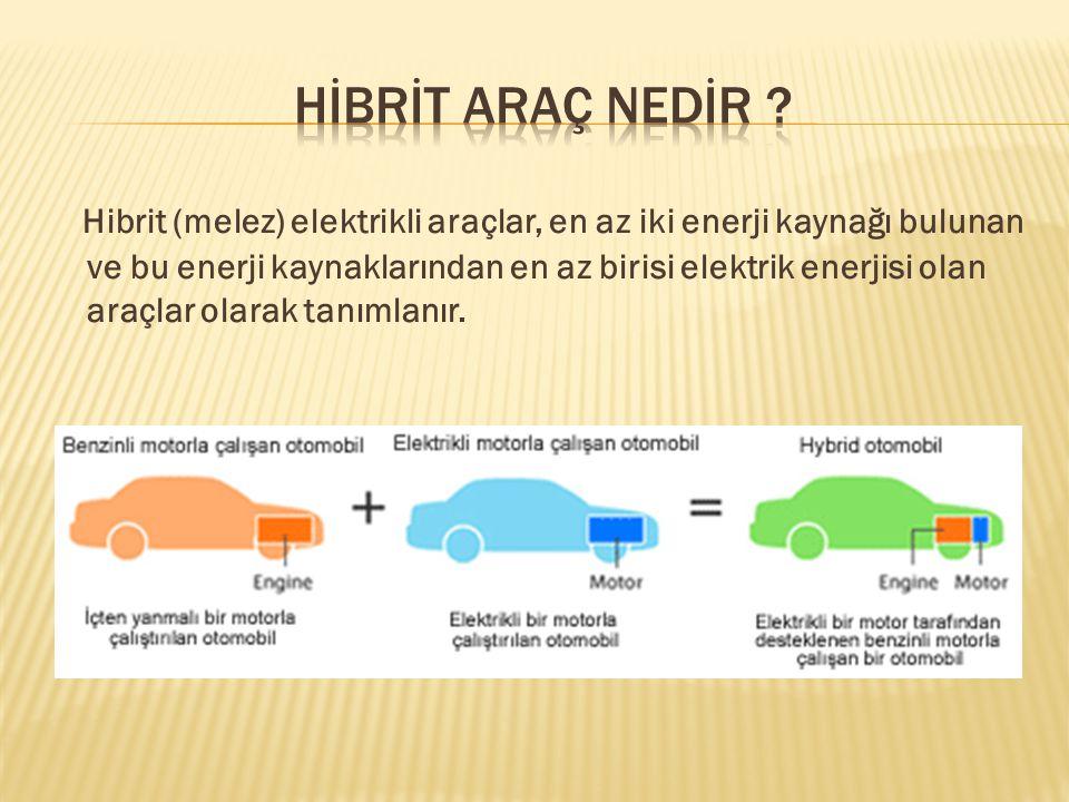 Hibrit araçlarda kullanılan başlıca pil modelleri; 1.