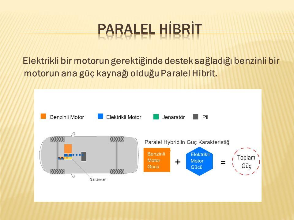 Seri hybridler, elektrikli araçlar gibi, yalnızca elektrik motorları tarafından sağlanan güçle çalışırlar.