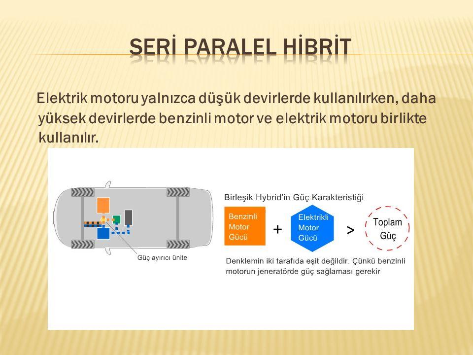 Hibrit araçlarda kullanılan başlıca elektrik motorları; 1.