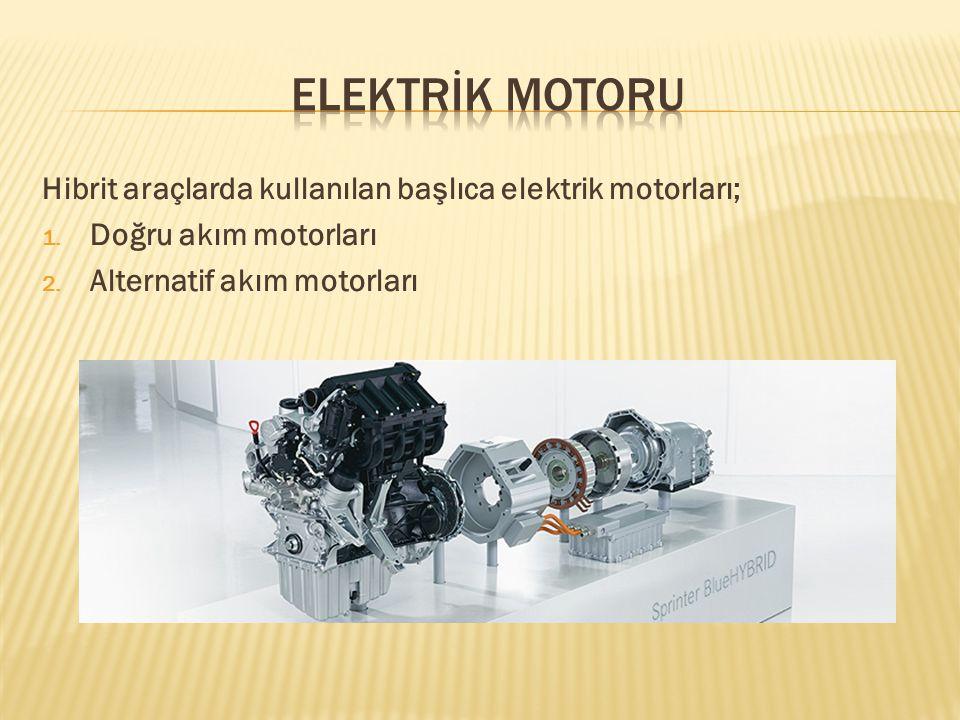 Bu tip motorlar ilk hibrit araç modellerinde kullanılmıştır.