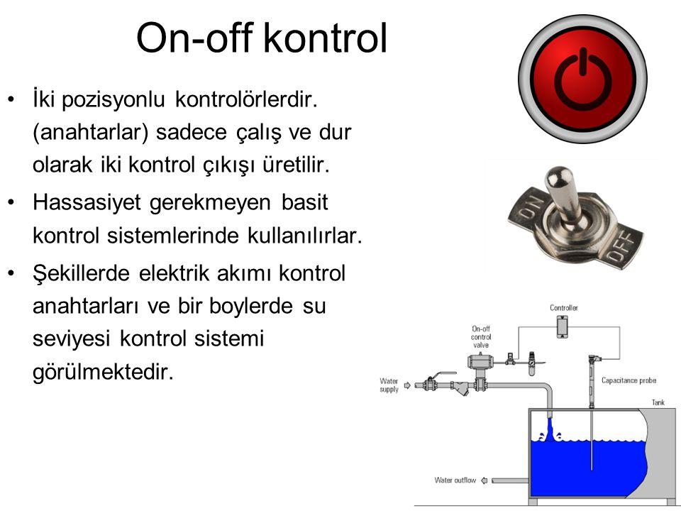 On-off kontrol İki pozisyonlu kontrolörlerdir.
