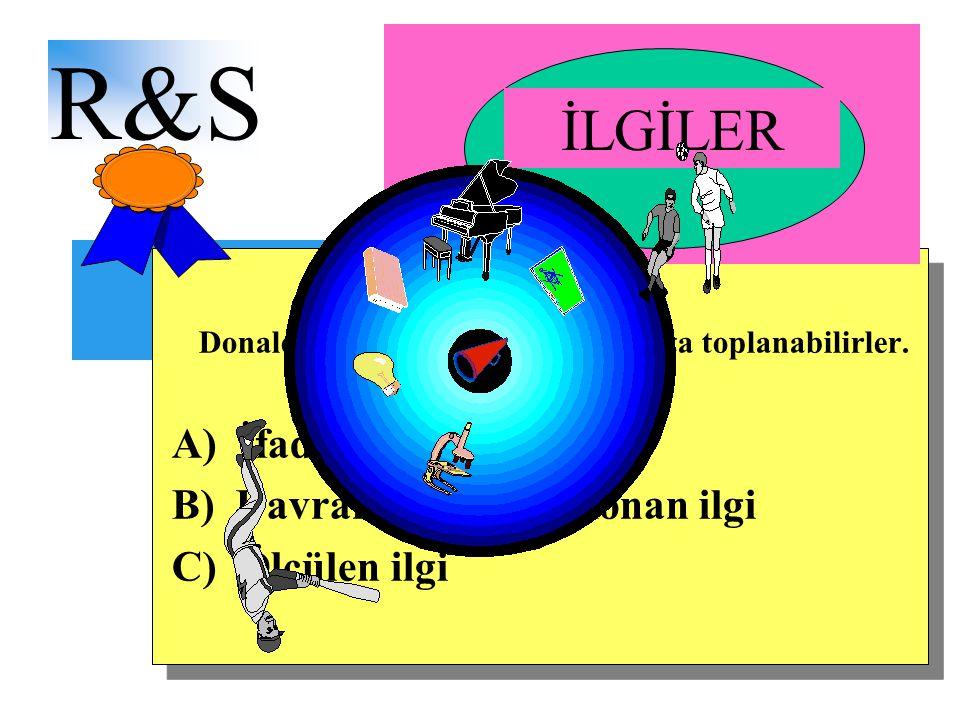 İÇİNDEKİLER R&S Donald Super'e göre ilgiler 3 grupta toplanabilirler.