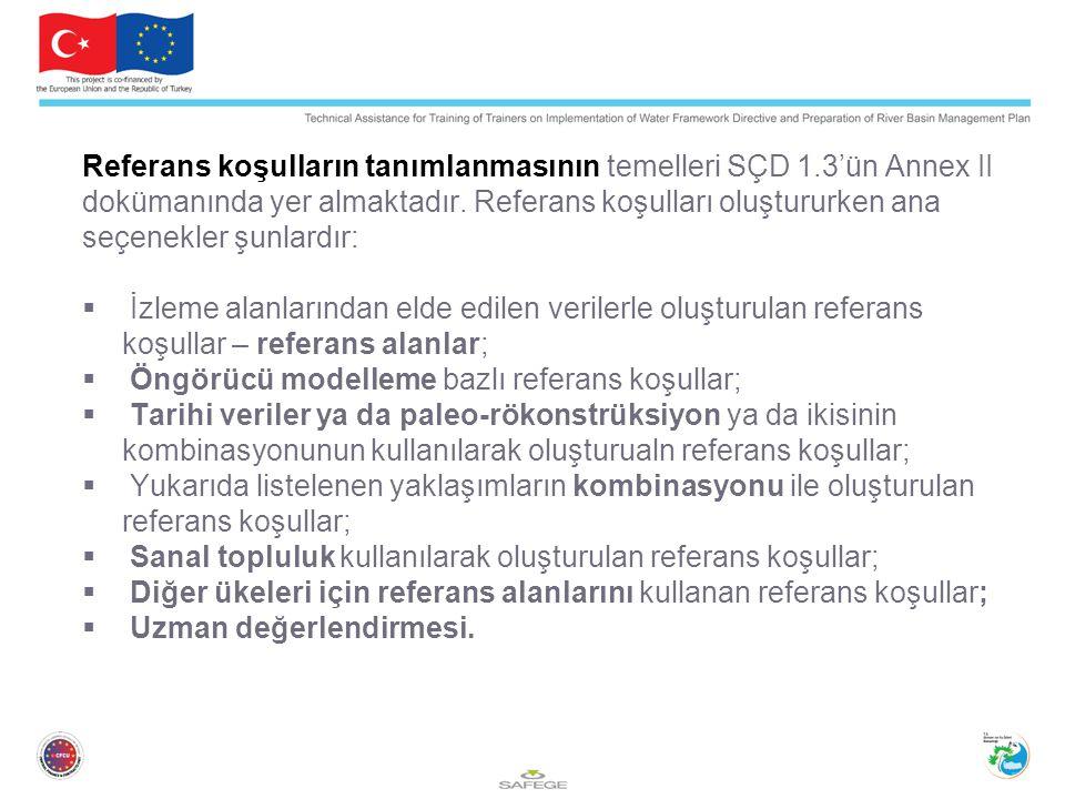 Referans koşulların tanımlanmasının temelleri SÇD 1.3'ün Annex II dokümanında yer almaktadır.