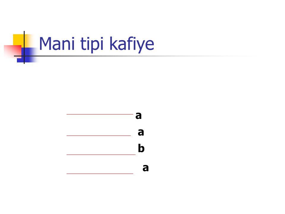 Sarma kafiye b b a a