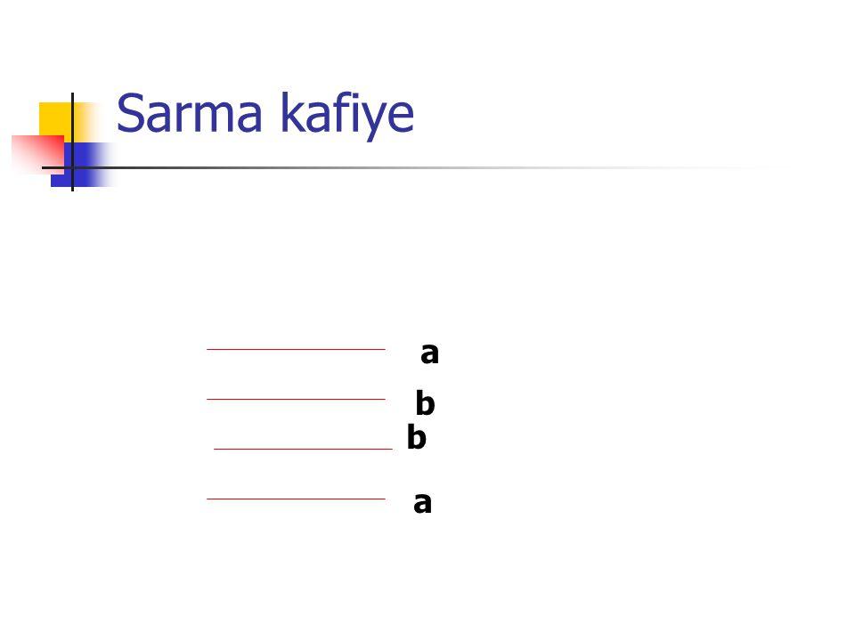 Çapraz kafiye a a b b