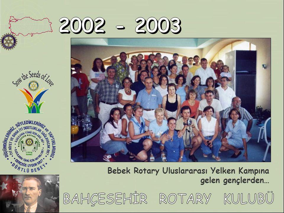 Bebek Rotary Uluslararası Yelken Kampına gelen gençlerden…