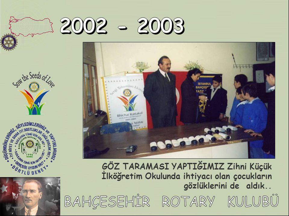 GÖZ TARAMASI YAPTIĞIMIZ Zihni Küçük İlköğretim Okulunda ihtiyacı olan çocukların gözlüklerini de aldık..