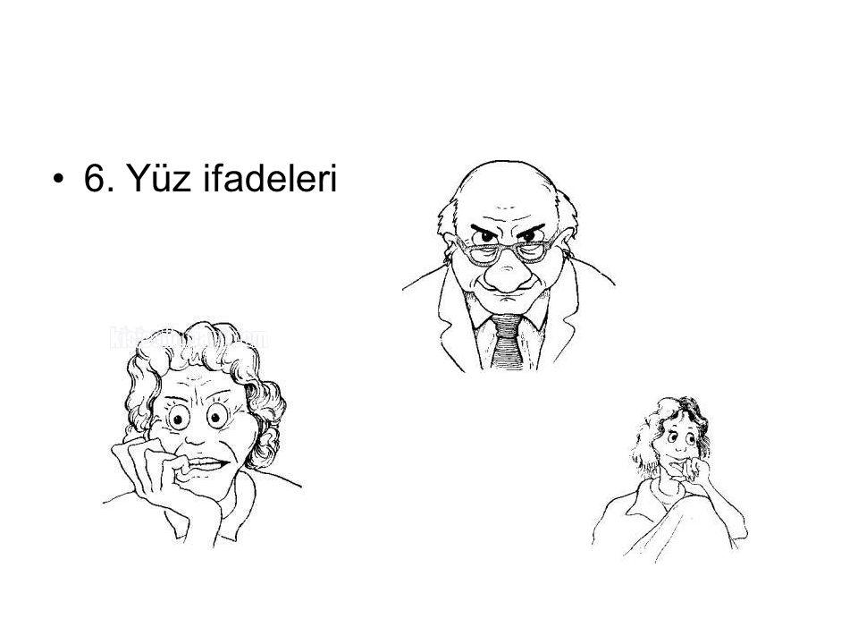 6. Yüz ifadeleri