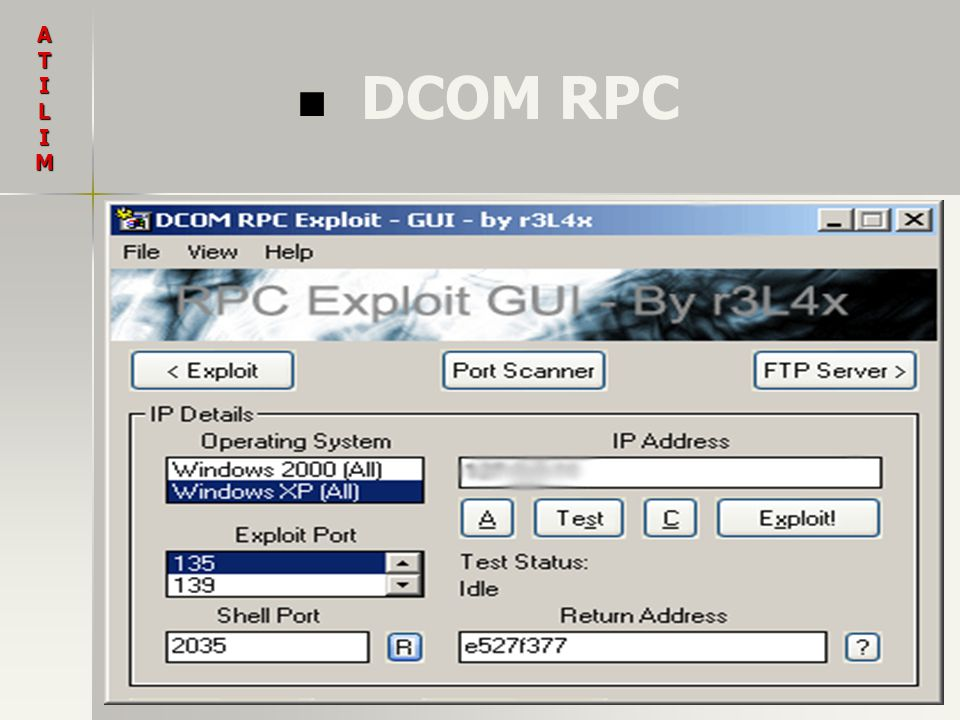 DCOM RPC ATILIM