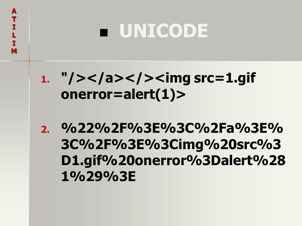 UNICODE 1. 1.