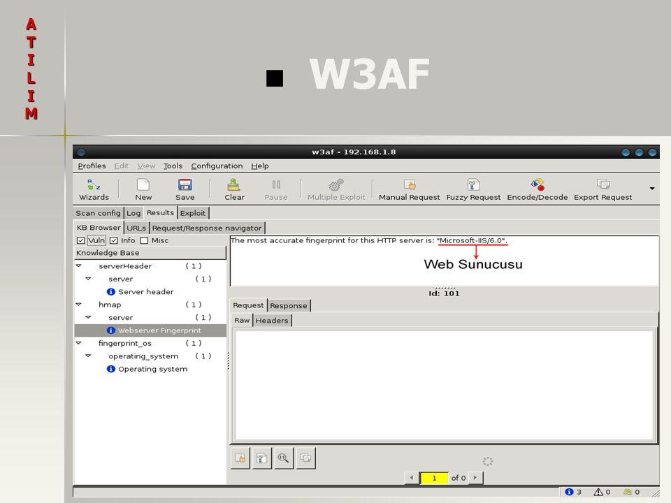 Vulnerability Scanners 1.1. Acunetix 2. 2. N-Stalker 3.