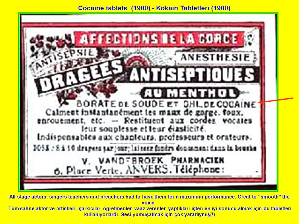 Cocaine tablets (1900) - Kokain Tabletleri (1900) All stage actors, singers teachers and preachers had to have them for a maximum performance.