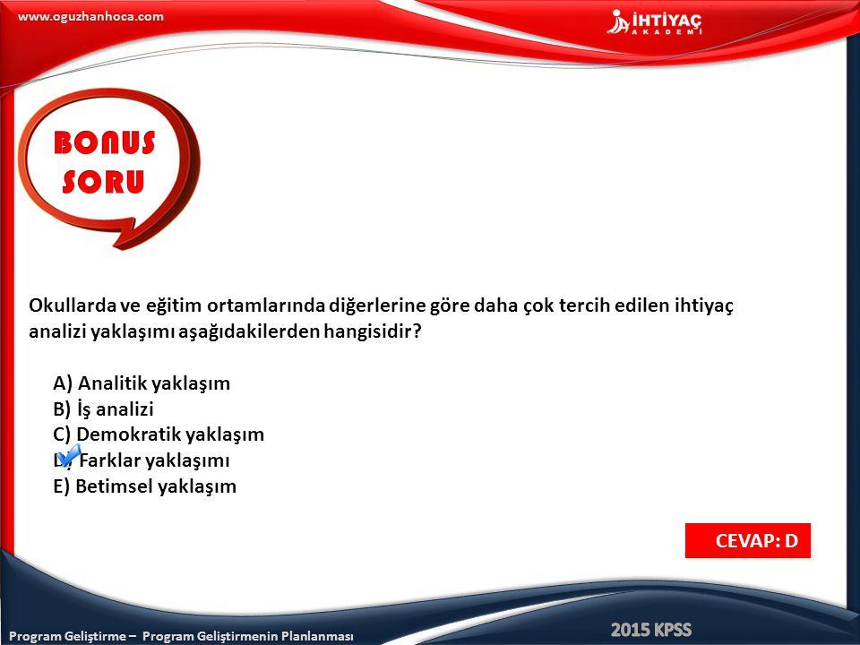 Program Geliştirme – Program Geliştirmenin Planlanması www.oguzhanhoca.com Okullarda ve eğitim ortamlarında diğerlerine göre daha çok tercih edilen ih