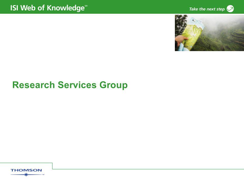 Copyright 2006 Thomson Corporation 2 Araştırmaların Ölçümü Her ne kadar Web of Science veritabanının ana amacı araştırmacılara bilgi erişimde yardımcı olmak ise de sağlanan veriler yapılan araştırmaların istatistiki ölçümlerine de olanak sağlar.