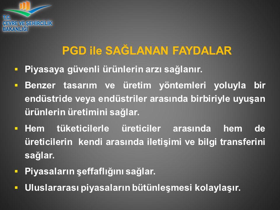PGD ile SAĞLANAN FAYDALAR  Piyasaya güvenli ürünlerin arzı sağlanır.