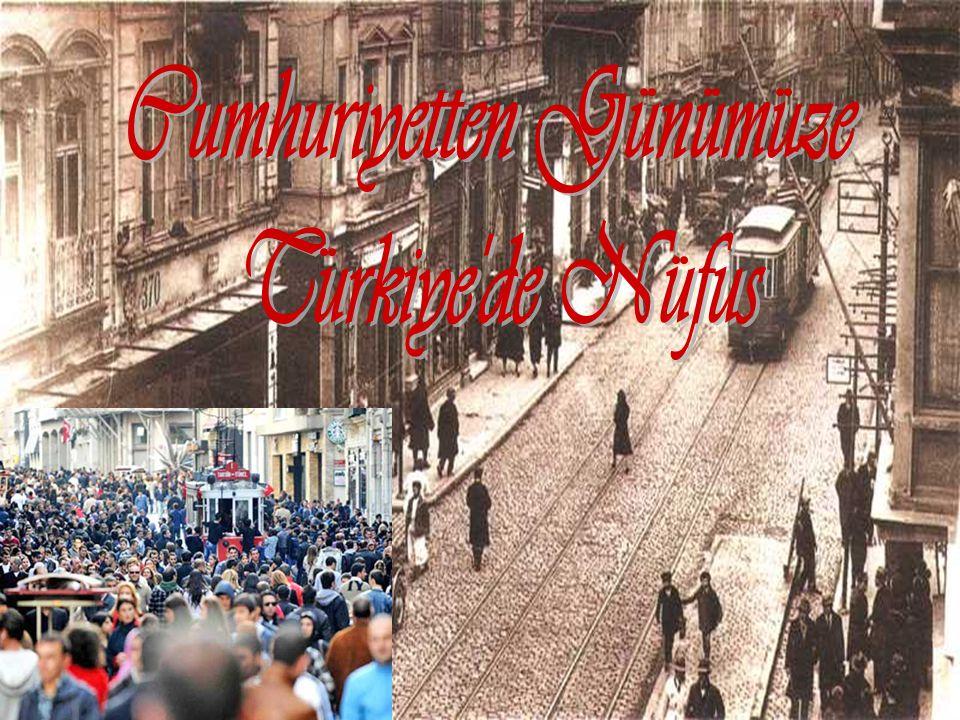 Türkiye nüfusu 1927-2011 arasında 5,5 kat artmıştır.