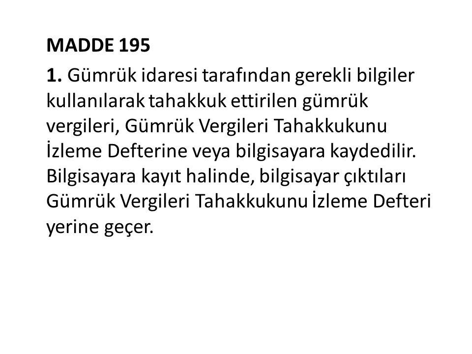 MADDE 195 1.