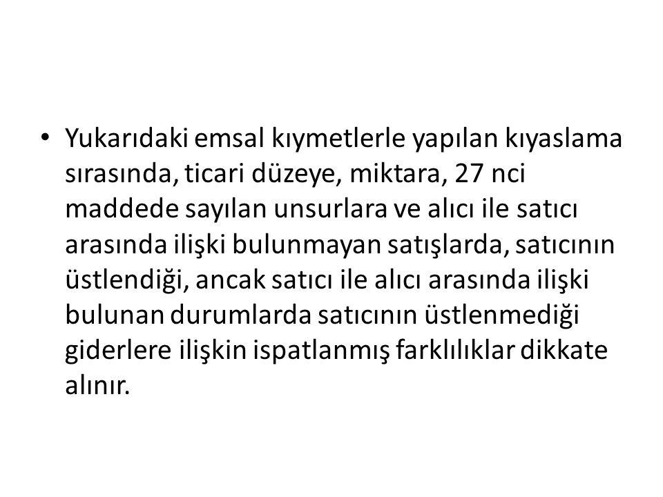 4-İNDİRGEME YÖNTEMİ MADDE 48 (1) Bu yöntemde, kıymeti belirlenecek eşya ya da aynı veya benzer eşya, Türkiye'de ithal edildiği hal ve durumda satılmışsa, bu yönteme göre ithal eşyasının gümrük kıymetinin belirlenmesinde, bu eşyanın ya da aynı veya benzer ithal eşyasının yurt içindeki satıcıdan müstakil alıcılara kıymeti belirlenecek eşyanın ithal tarihi ile aynı veya yakın bir tarihte yapılan en büyük miktardaki satışına ait birim fiyat esas alınır.