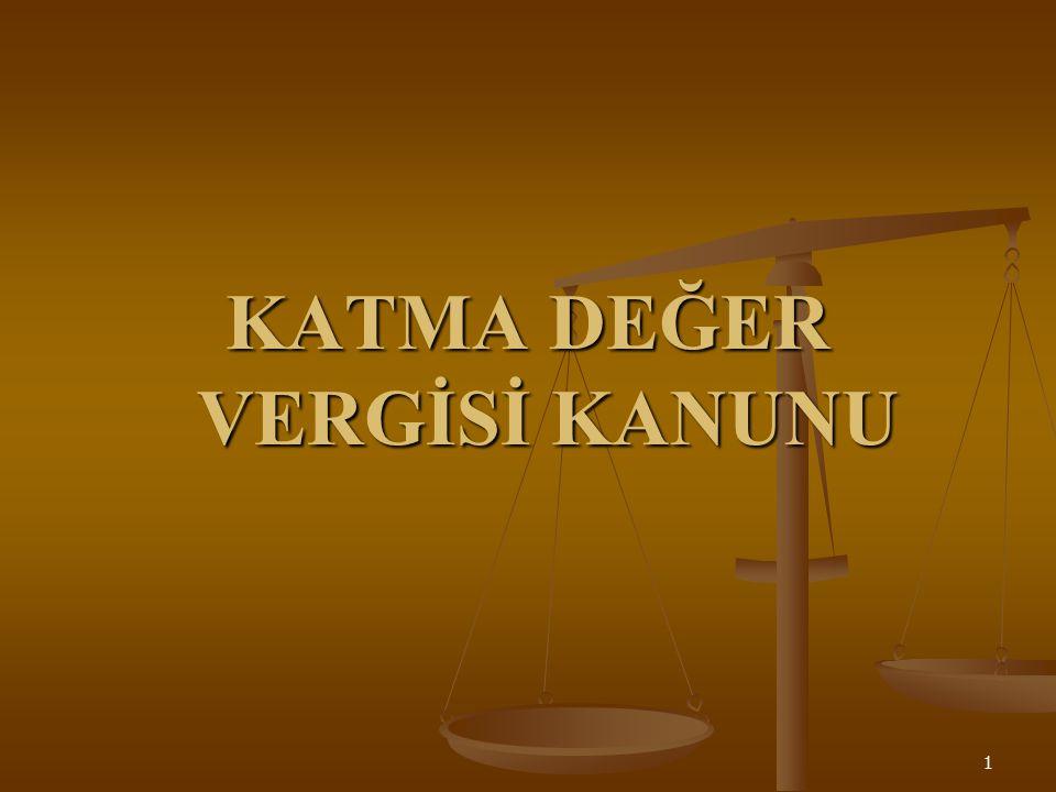 Verginin Konusunu Teşkil Eden İşlemler (1) Türkiye de yapılan aşağıdaki işlemler katma değer vergisine tabidir: 1.