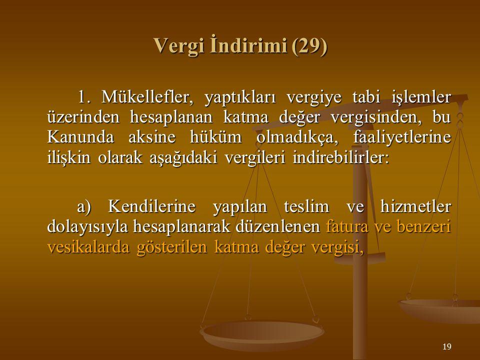 19 Vergi İndirimi (29) 1.