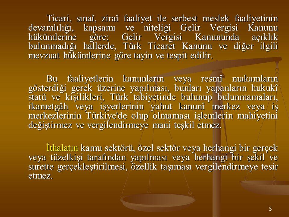 16 Teslim ve Hizmet İşlemlerinde Matrah (20) 1.