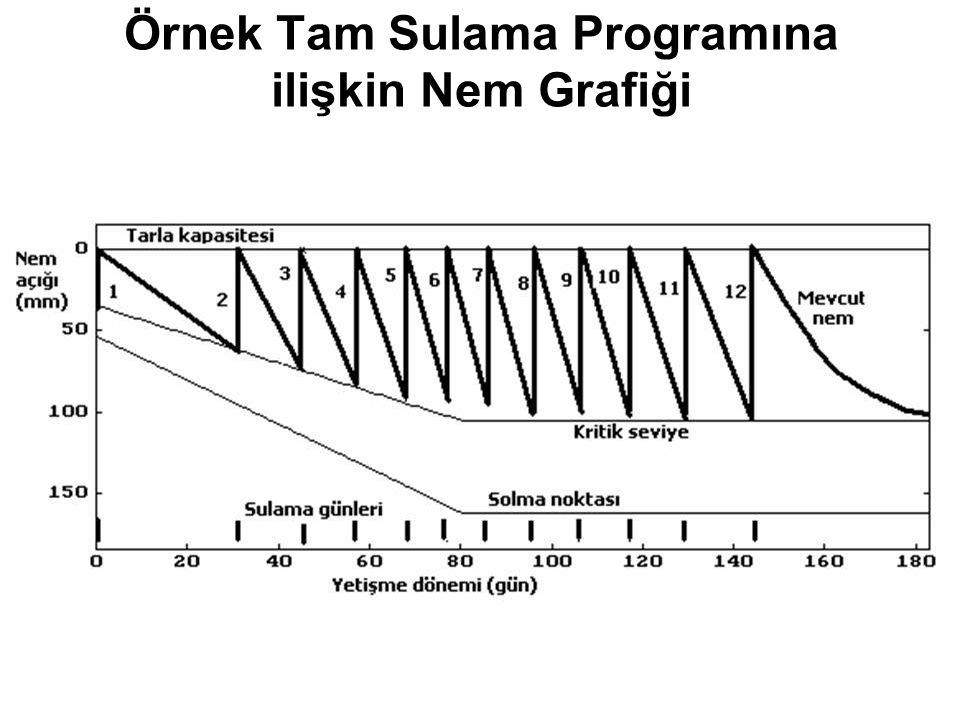 Örnek Tam Sulama Programına ilişkin Nem Grafiği
