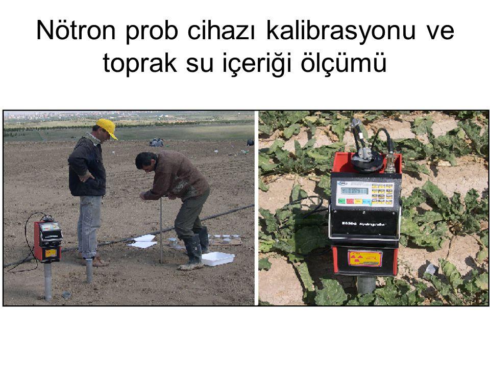 Nötron prob cihazı kalibrasyonu ve toprak su içeriği ölçümü