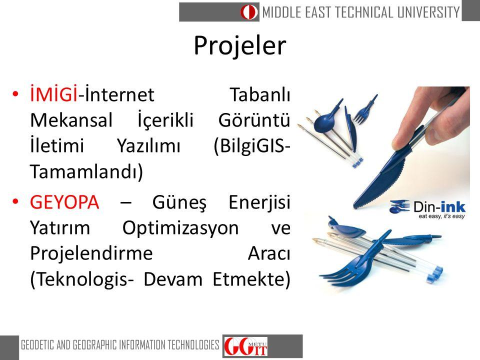 Projeler İMİGİ-İnternet Tabanlı Mekansal İçerikli Görüntü İletimi Yazılımı (BilgiGIS- Tamamlandı) GEYOPA – Güneş Enerjisi Yatırım Optimizasyon ve Proj