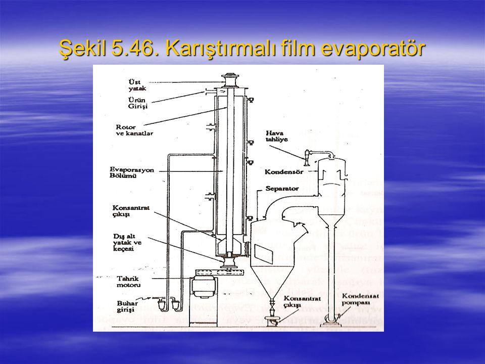 Şekil 5.46. Karıştırmalı film evaporatör