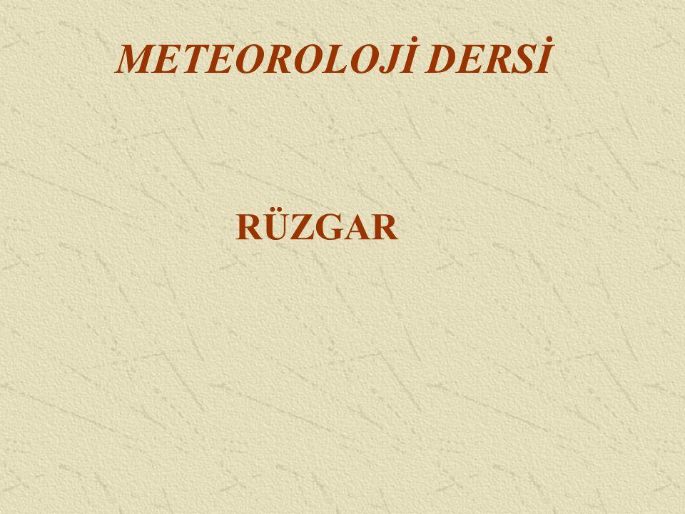 METEOROLOJİ DERSİ RÜZGAR