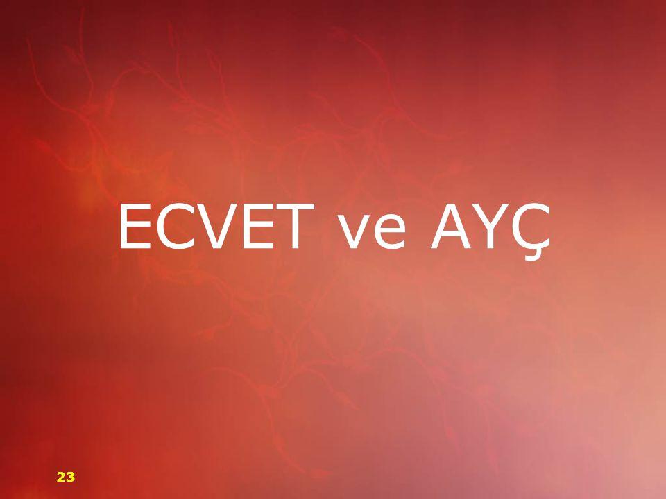 ECVET ve AYÇ 23
