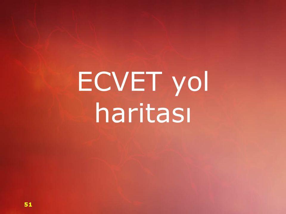 ECVET yol haritası 51