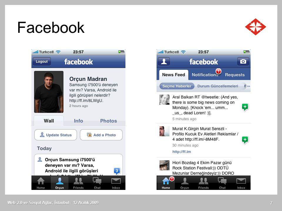 Duke University Web 2.0 ve Sosyal Ağlar, İstanbul - 12 Aralık 2009 18