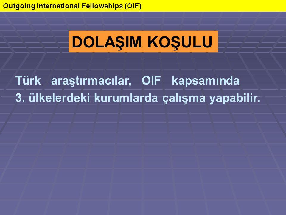 Türk araştırmacılar, OIF kapsamında 3. ülkelerdeki kurumlarda çalışma yapabilir.