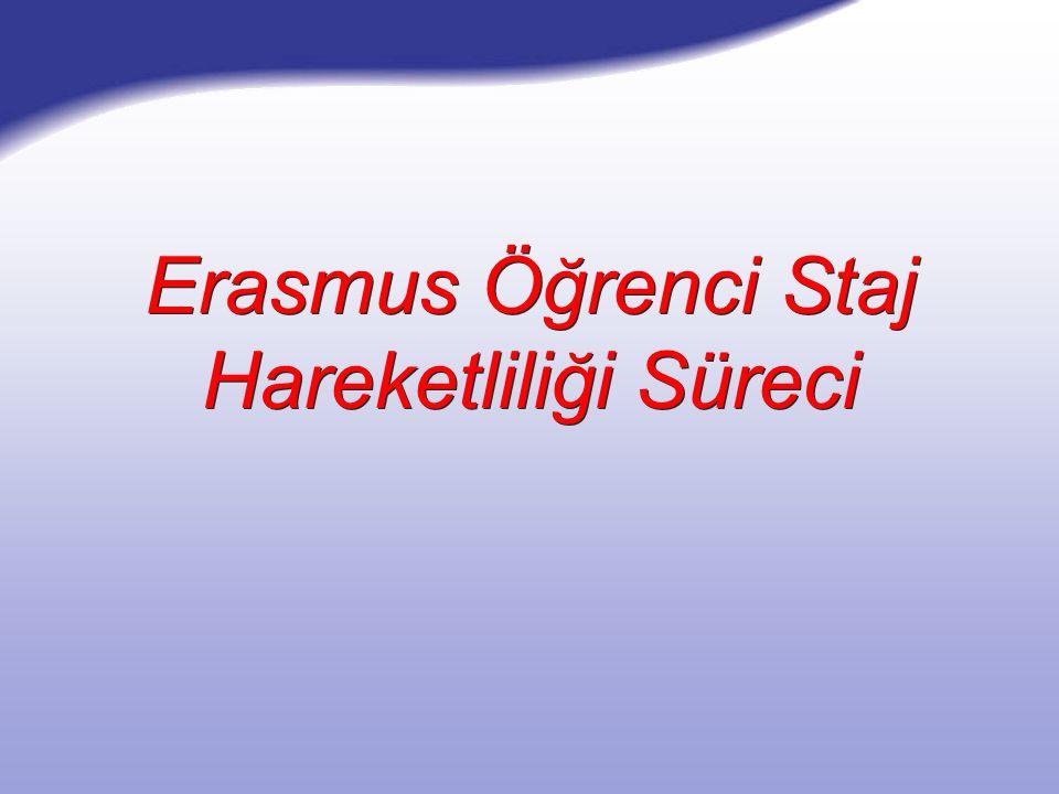 Erasmus Öğrenci Staj Hareketliliği Süreci