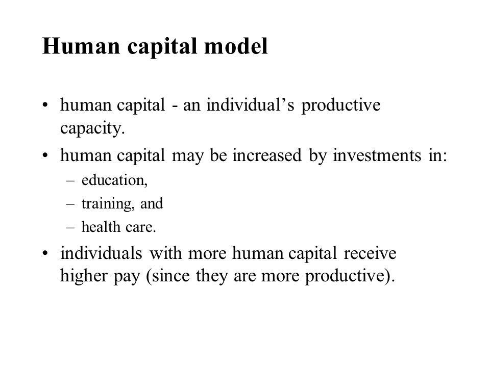 Optimal investment in education invest in additional education only if benefits is at least as large as costs.