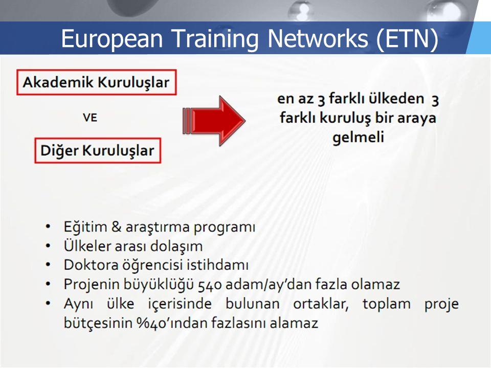 LOGO European Training Networks (ETN)